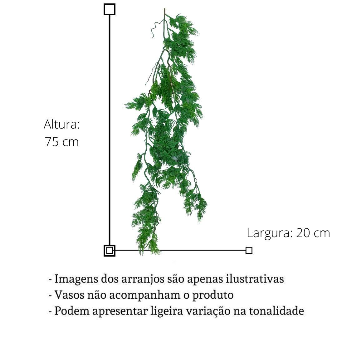 Planta Artificial Galho de Pendente de Folhagem 75 cm Linha Premium