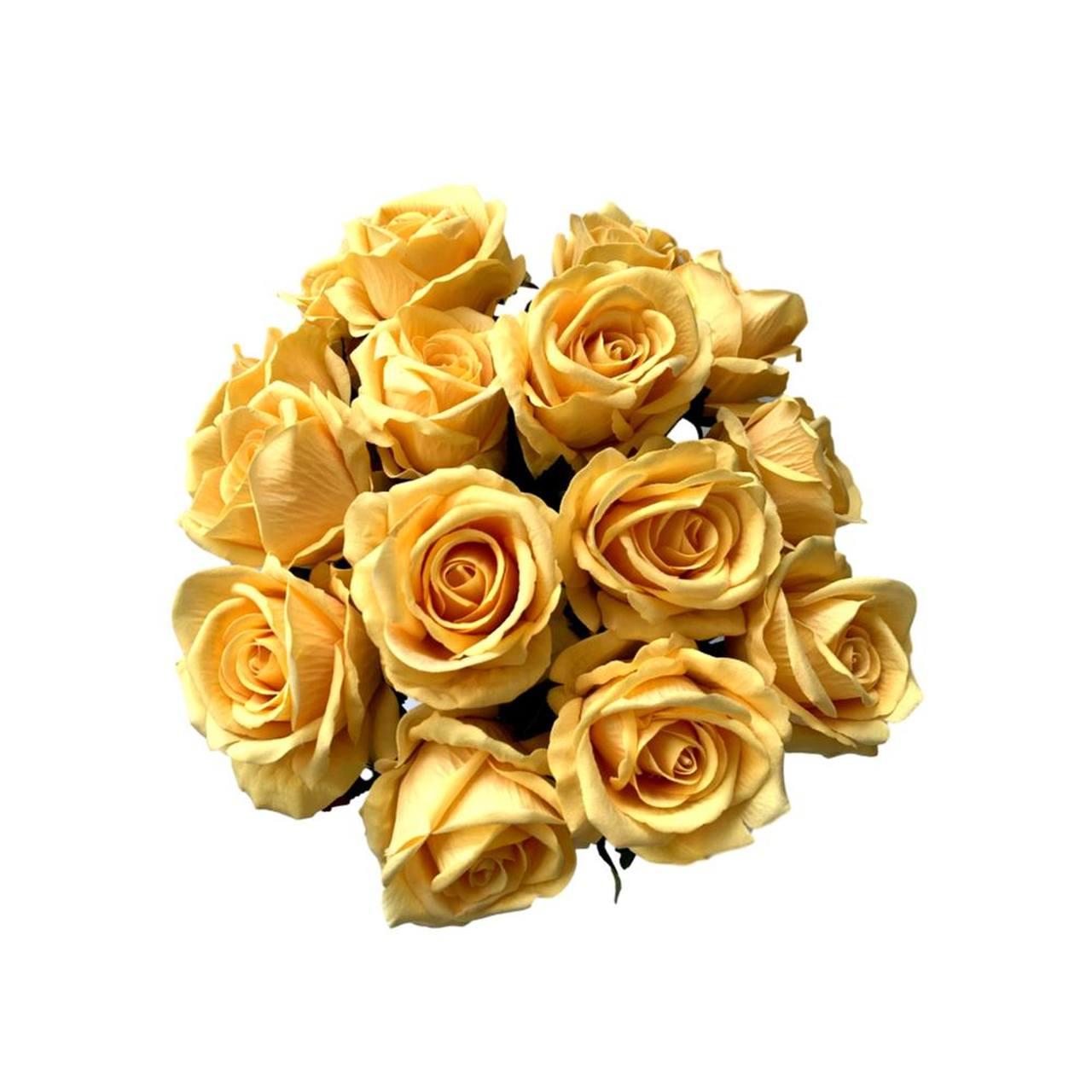 Rosas artificiais amarelo claro flores artificiais atacado