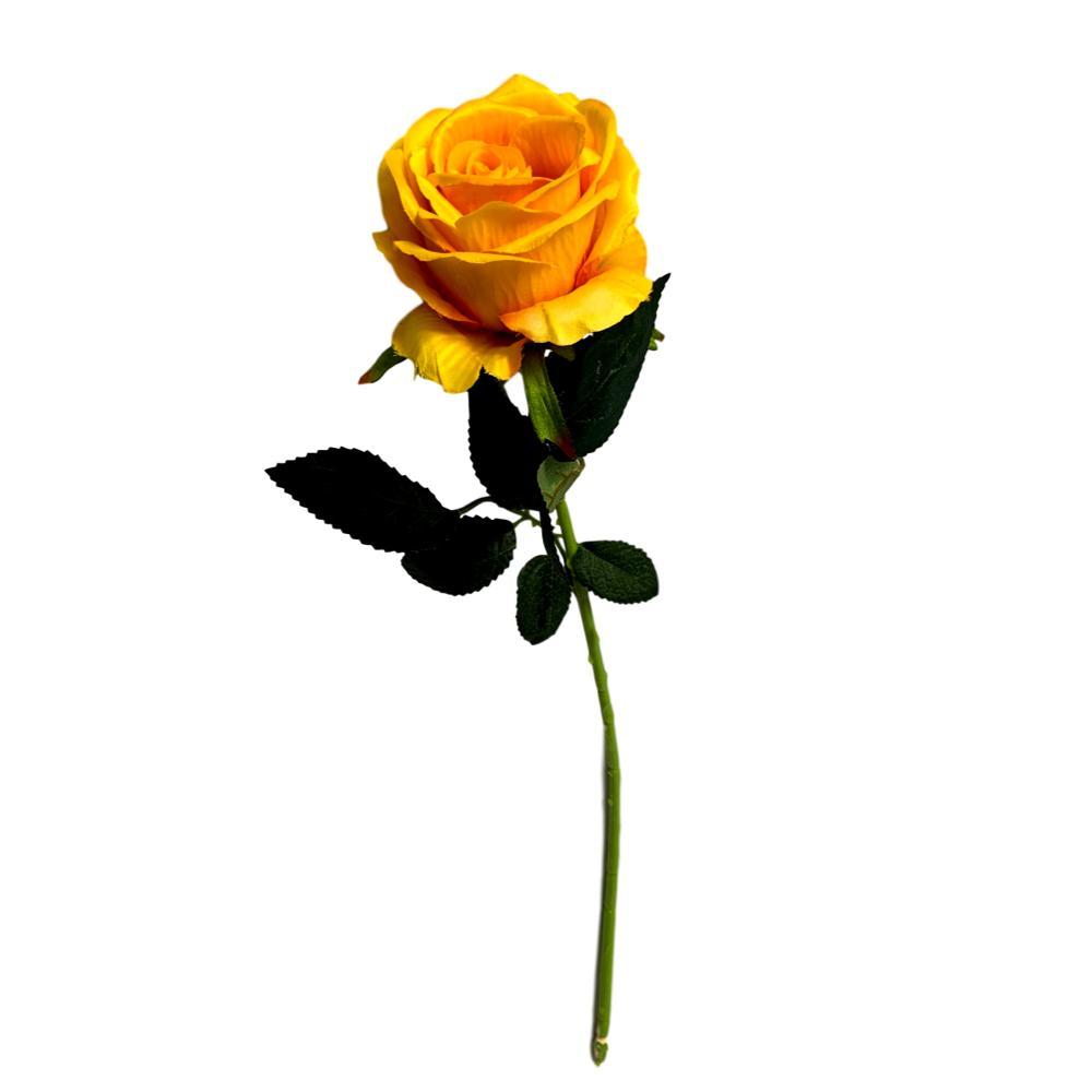 Rosas artificiais amarelo flores artificiais atacado