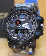 Relógio Casio G-Shock Anadigi - camuflado/AZUL MODELO2 LINHA PREMIUM