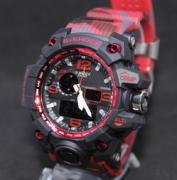 Relógio Casio G-Shock Anadigi - camuflado/vermelho LINHA PREMIUM