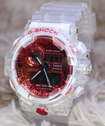 Relógio G-SHOCK Caixa de aço Pulseira de Borracha modelo 5 LINHA PREMIUM