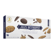 JULES DESTROOPER LACE THINS WITH CASHEW NUTS E BELGIAN DARK CHOCOLATE - 100g