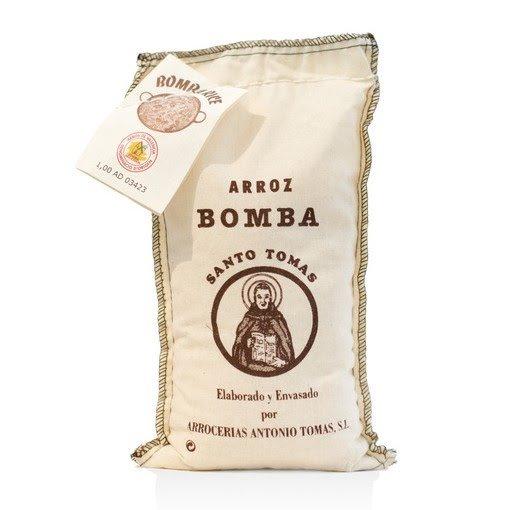 ARROZ BOMBA SANTO TOMAS - 1KG  - Empório Pata Negra
