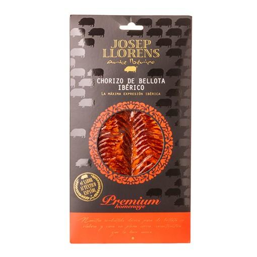 Chouriço Premium Ibérico Pata Negra 100% Bellota Josep Llorens Fatiado - 100g  - Empório Pata Negra