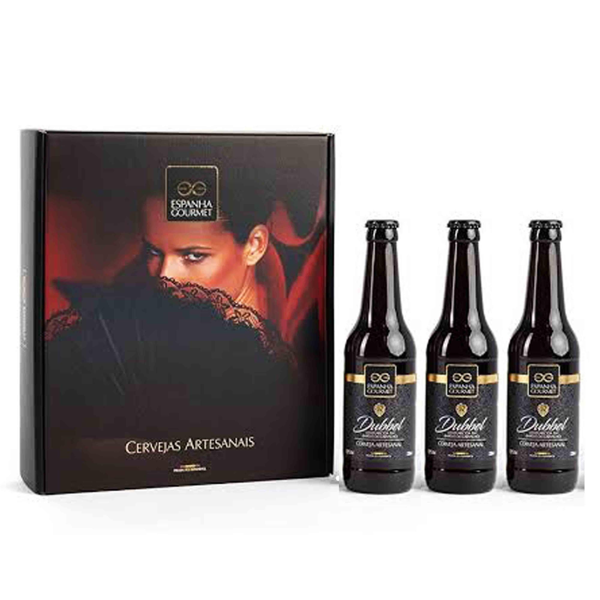 Kit Cerveja Artesanal Dubbel - envelhecida m Barris de Carvalho - 330ml  - Empório Pata Negra