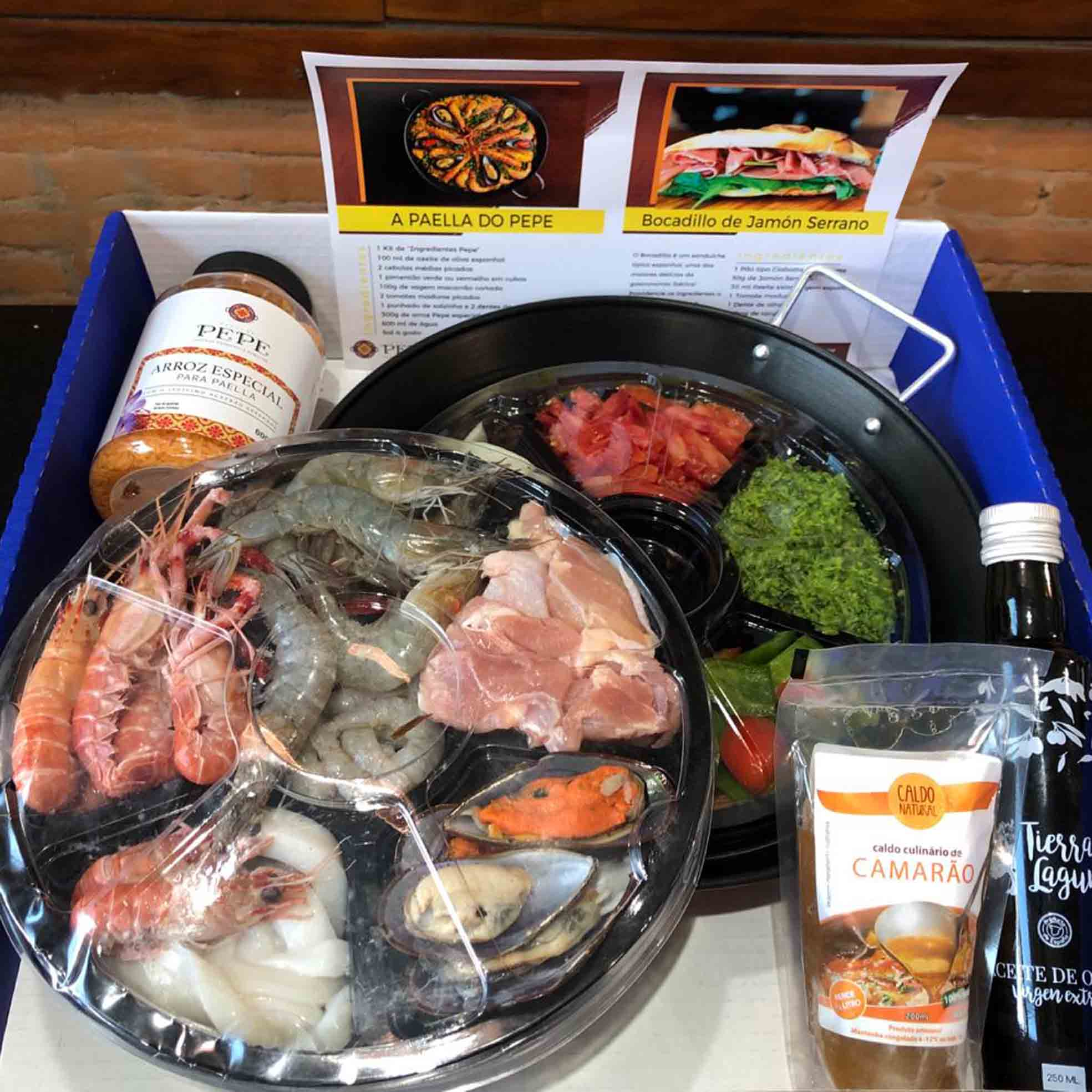 KIT PAELLA DEL PEPE - (SP - CAPITAL/ ABC)  - Empório Pata Negra