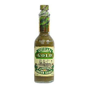 LOUISIANA GOLD GREEN PEPER SAUCE - 57ml  - Empório Pata Negra