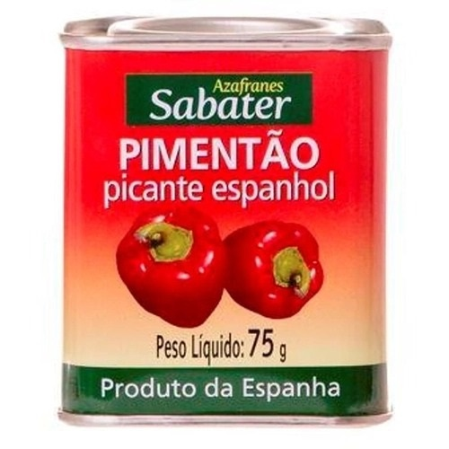 PIMENTÃO PICANTE ESPANHOL SABATER - 75g  - Empório Pata Negra