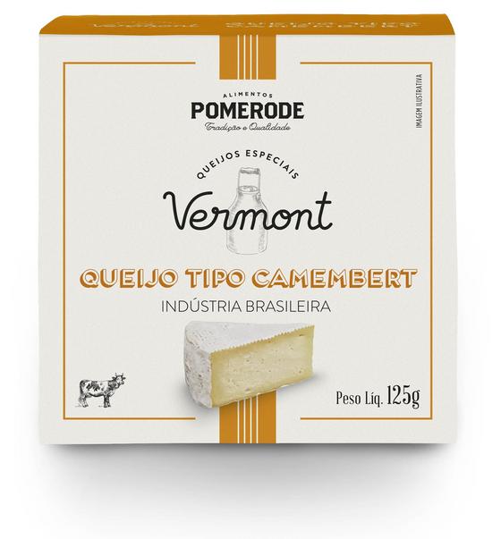 QUEIJO TIPO CAMEMBERT VERMONT -  POMERODE 125g  - Empório Pata Negra
