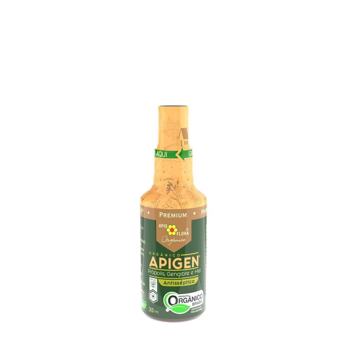 APIGEN Spray Orgânico - Própolis, Mel e Gengibre 30ml