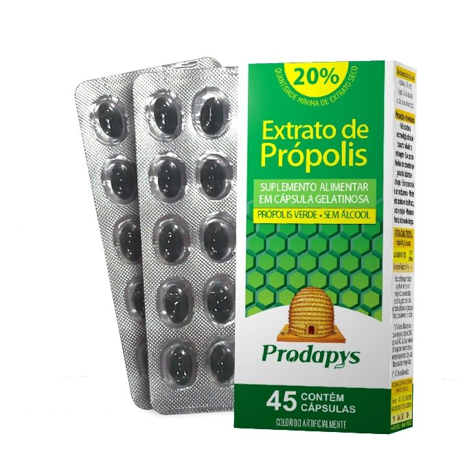 Extrato de Própolis Verde 45 Cápsulas Prodapys