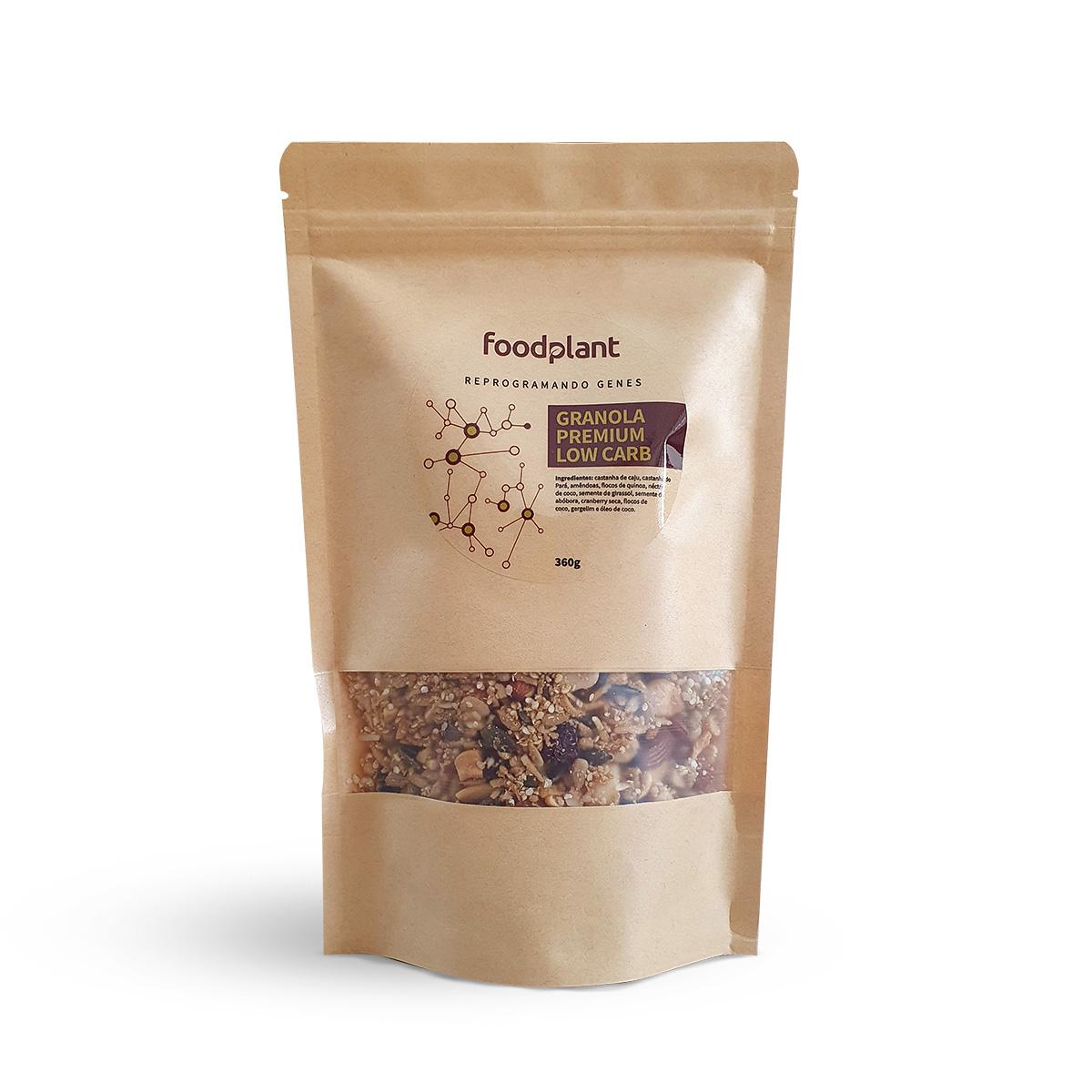 Granola Premium Low Carb Sem Açúcar Foodplant 360g