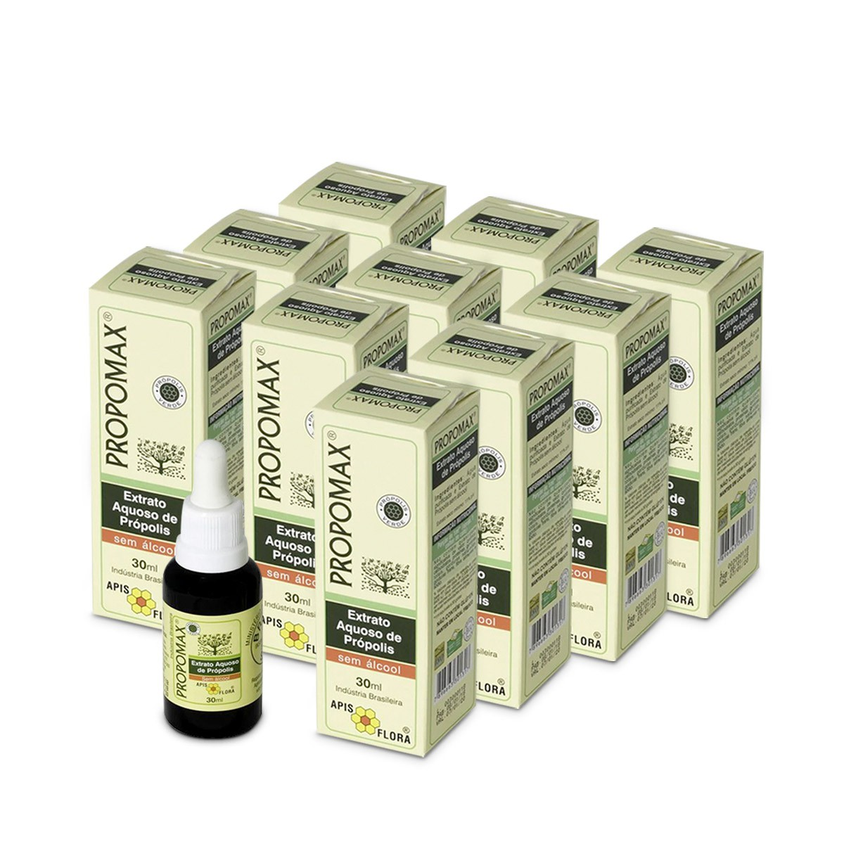 Kit 10 Propomax Extrato de Própolis Aquoso Sem Álcool