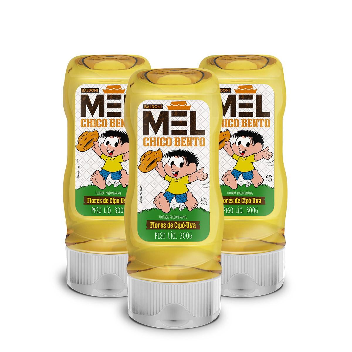 Kit 3 Mel Flor de Cipó Uva Chico Bento 300g