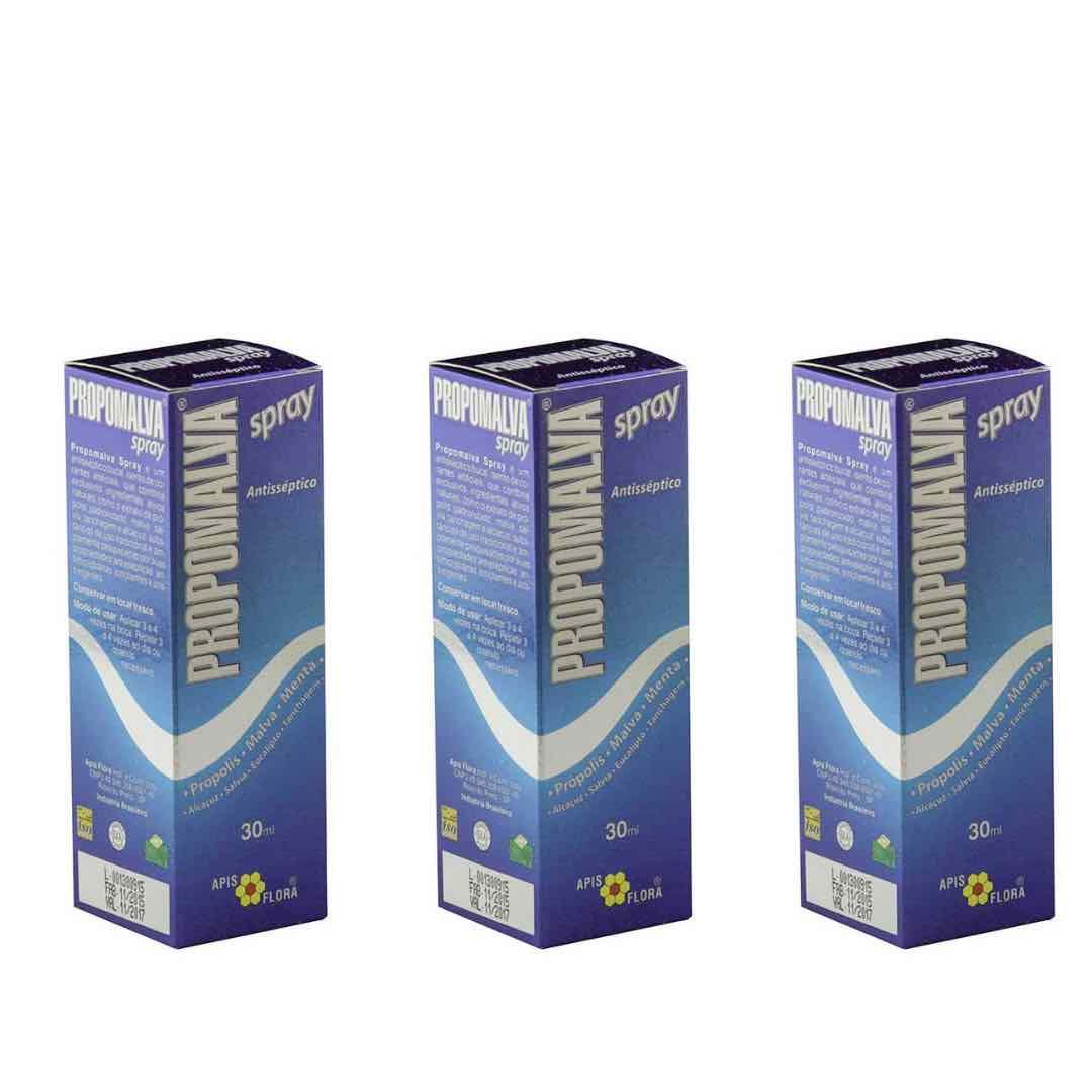 Kit 3 Propomalva Própolis Spray