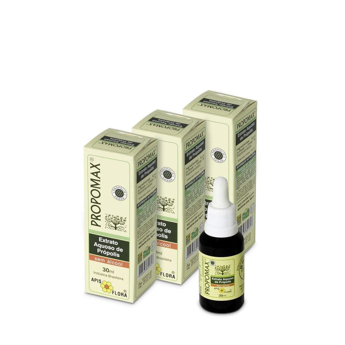 Kit 3 Propomax Extrato de Própolis Aquoso Sem Álcool
