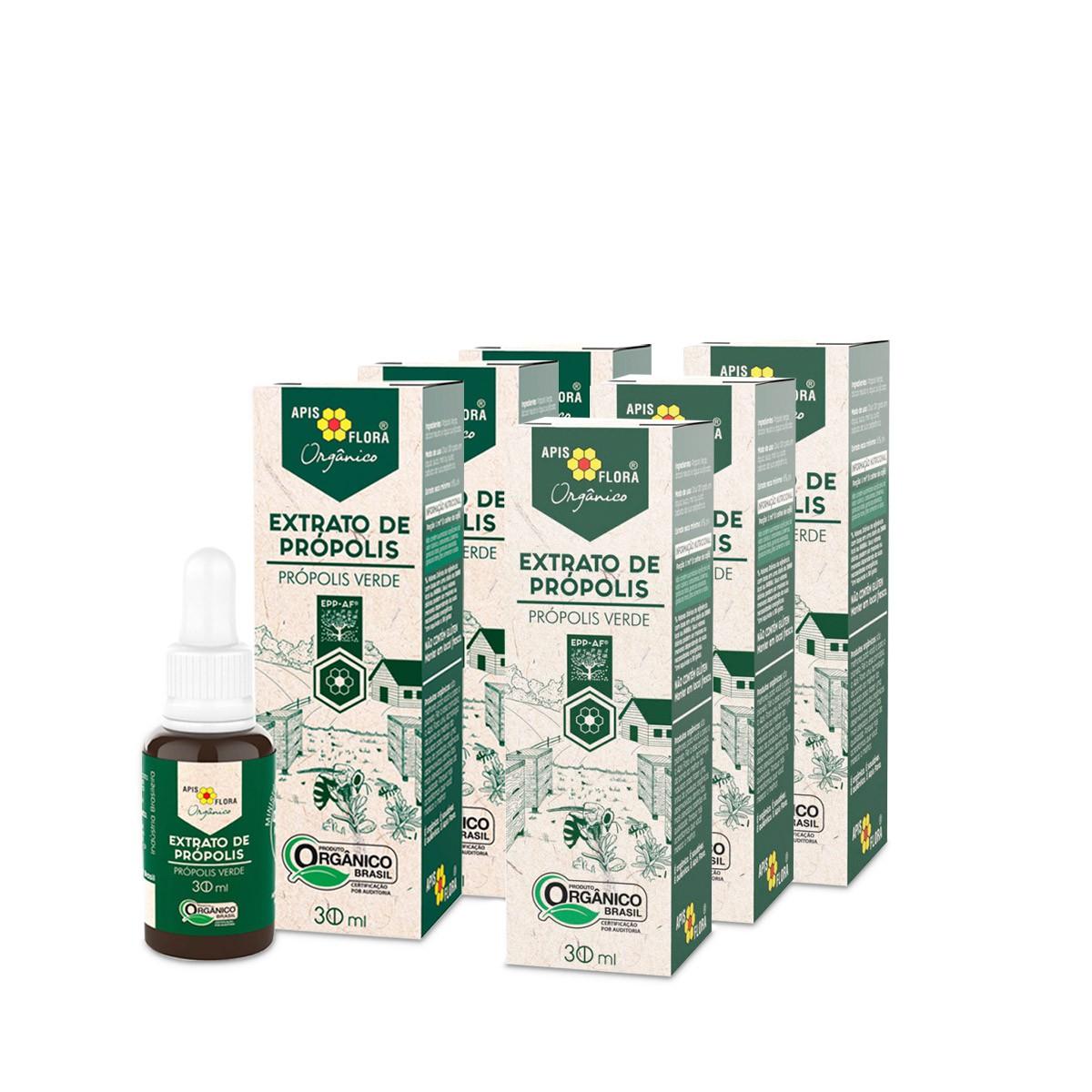 Kit 6 Extrato de Própolis Verde Orgânico 30 ml Apis Flora