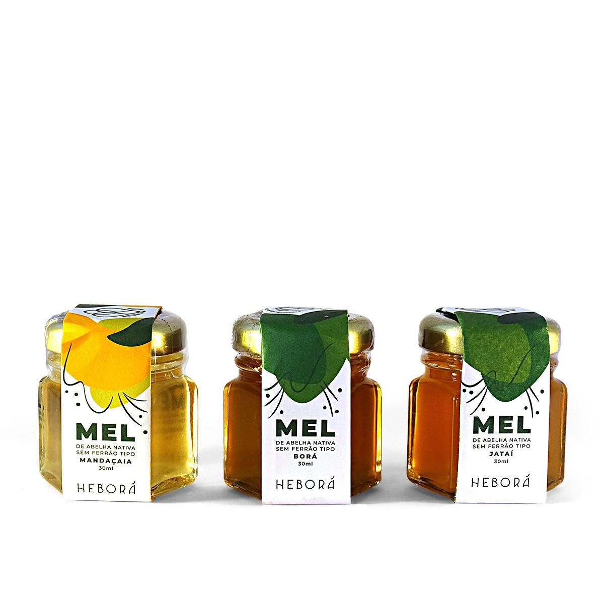 KIT Mel de Abelha Nativa - Jataí, Mandaçaia e Borá