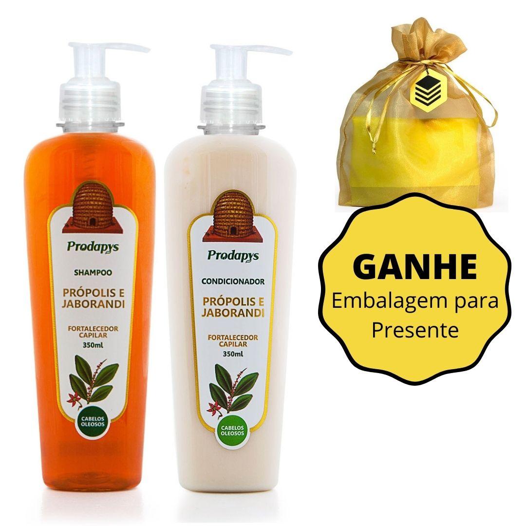 Kit Shampoo e Condicionador de Própolis e Jaborandi Prodapys - GANHE Embalagem para Presente