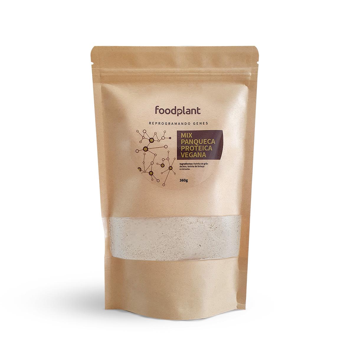 Mix Panqueca Protéica Vegana Foodplant 360g