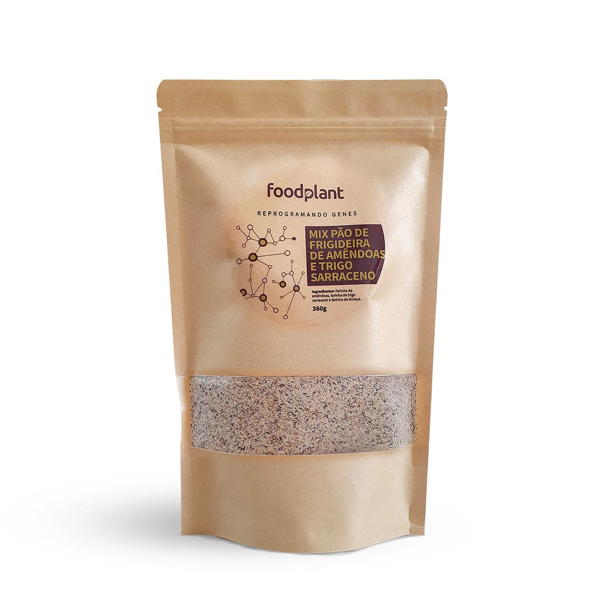 Mix Pão de Frigideira de Amêndoas e Trigo Sarraceno Foodplant 360g