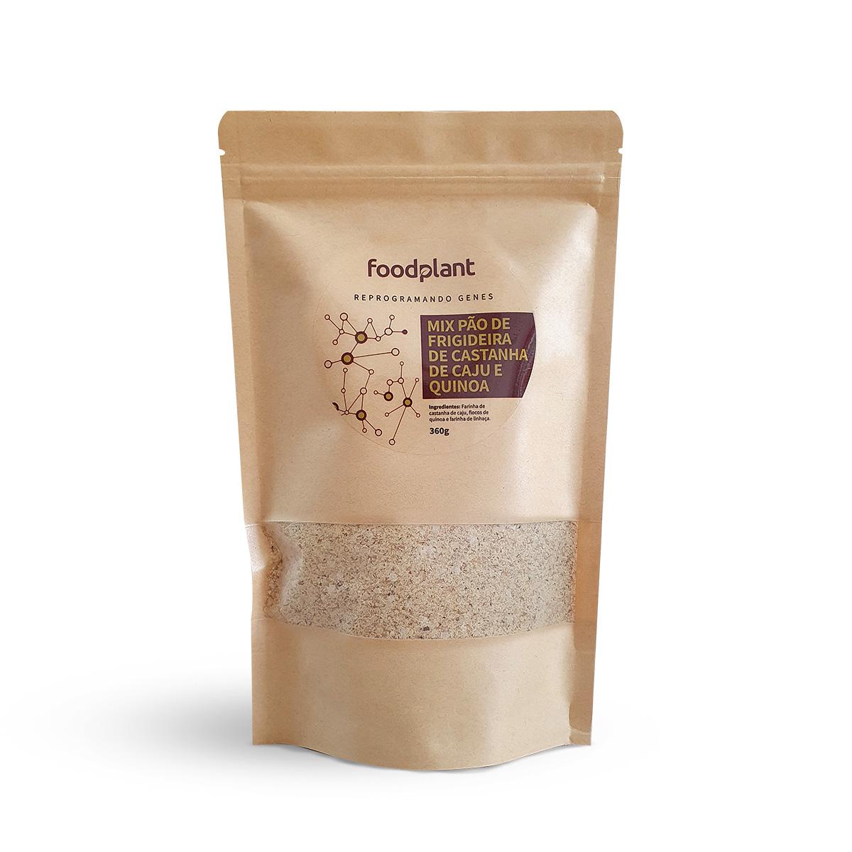 Mix Pão de Frigideira de Castanha de Cajú e Flocos de Quinoa Foodplant 360g