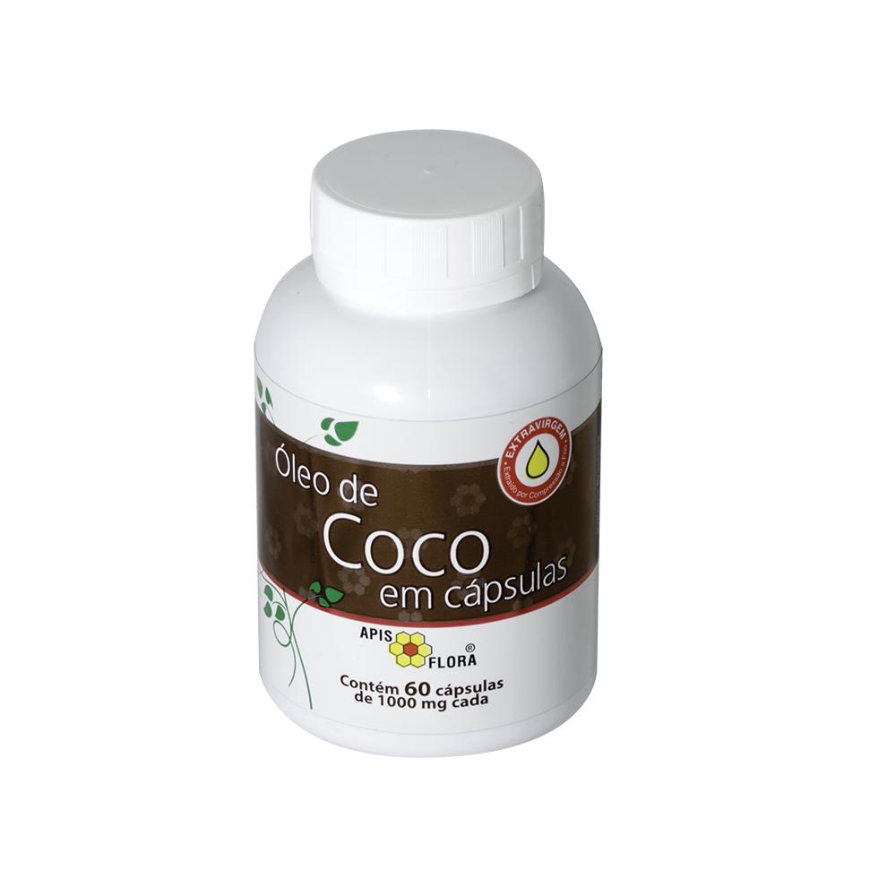 Óleo de Coco Extravirgem Cápsulas Apis Flora 60g