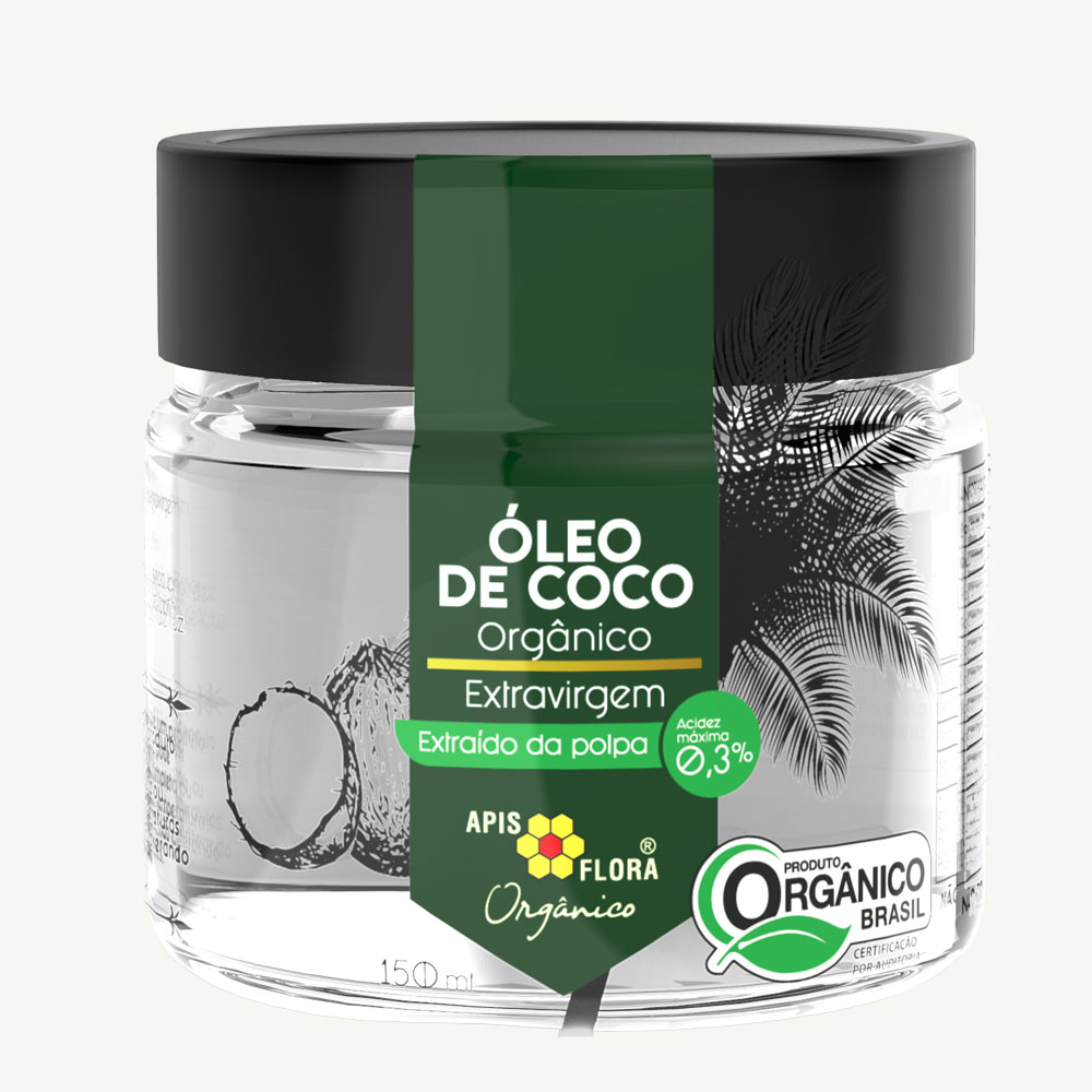 Óleo de Coco Orgânico Extravirgem Apis Flora 150ml