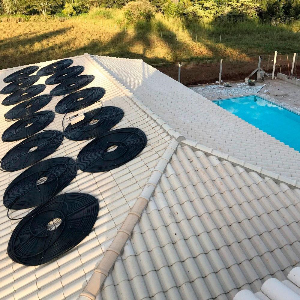 Aquecedor Solar Piscina 1m60 + Kit Instalação - Spirasol