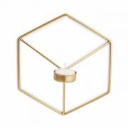 Porta Velas Wire Dourado