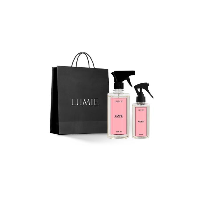 Kit Home Spray e Água de Passar LOVE  - Lumie Velas