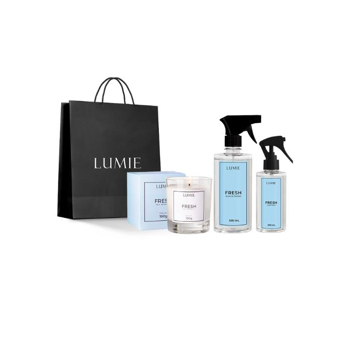 Kit Vela, Home Spray e Água de Passar FRESH  - Lumie Velas