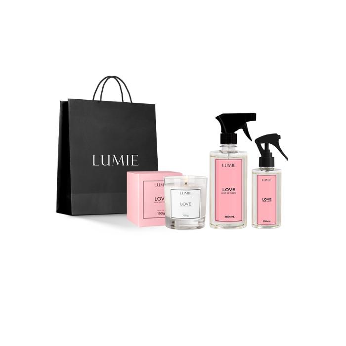 Kit Vela, Home Spray e Água de Passar LOVE  - Lumie Velas