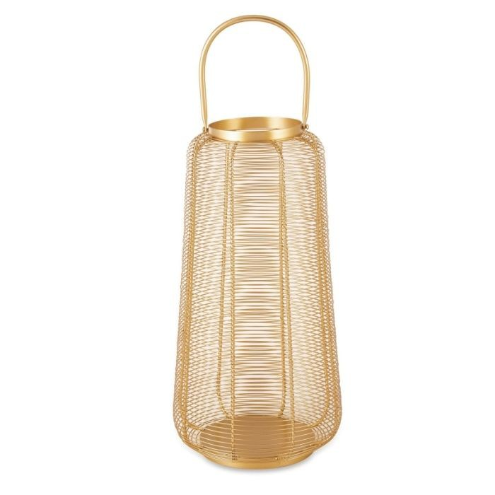 Lanterna Dourada em Metal  - Lumie Velas