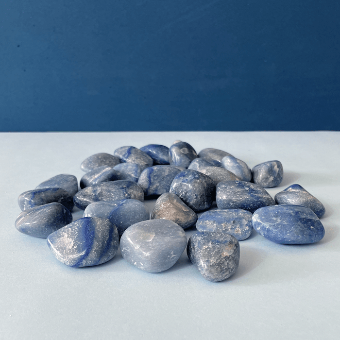 Pedra Quartzo Azul 400g  - Lumie Velas