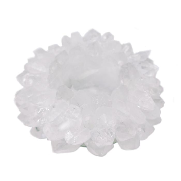 Porta Velas Cristal de Quartzo  - Lumie Velas