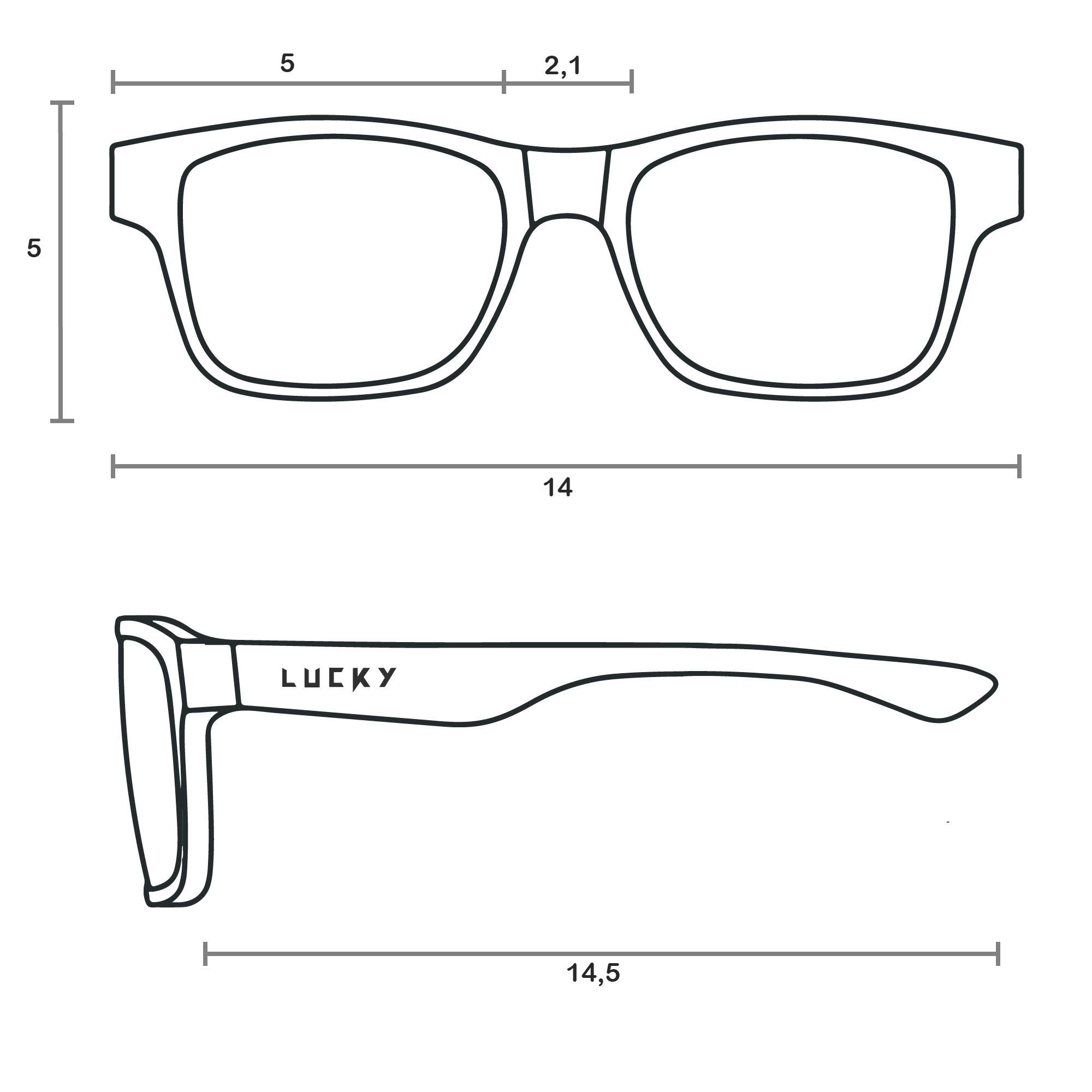 Óculos modelo Clip on 2×1. Lucky3584