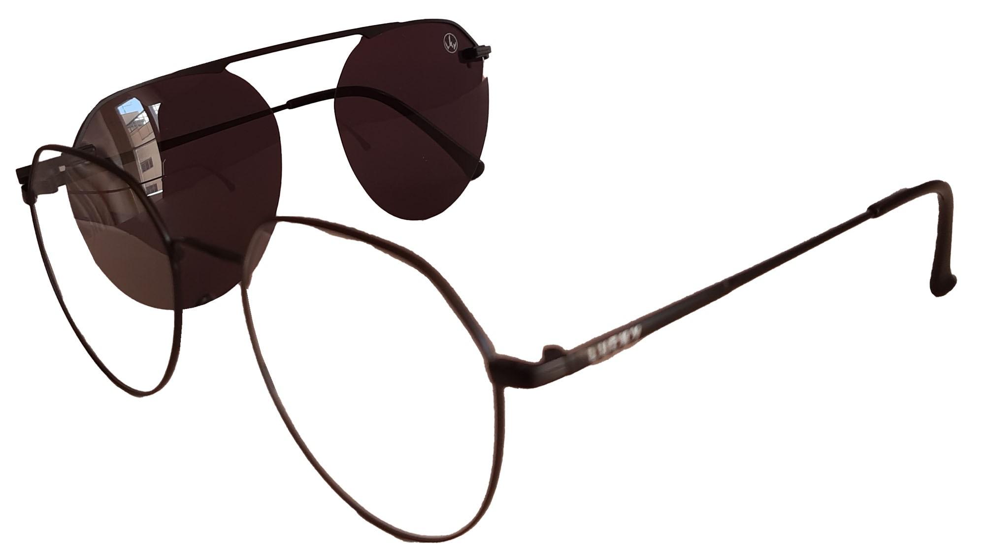 Óculos para grau clip on 2x1 Lucky3046