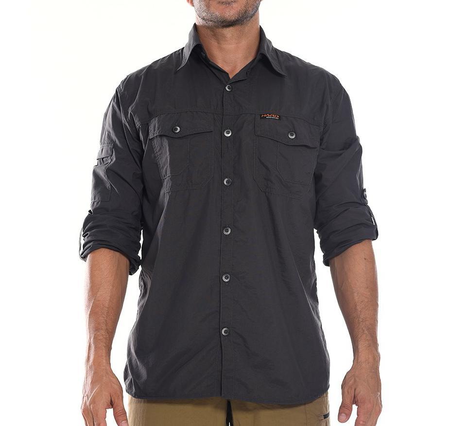 Camisa Masculina Hard Adventure Safari Chumbo UV50+