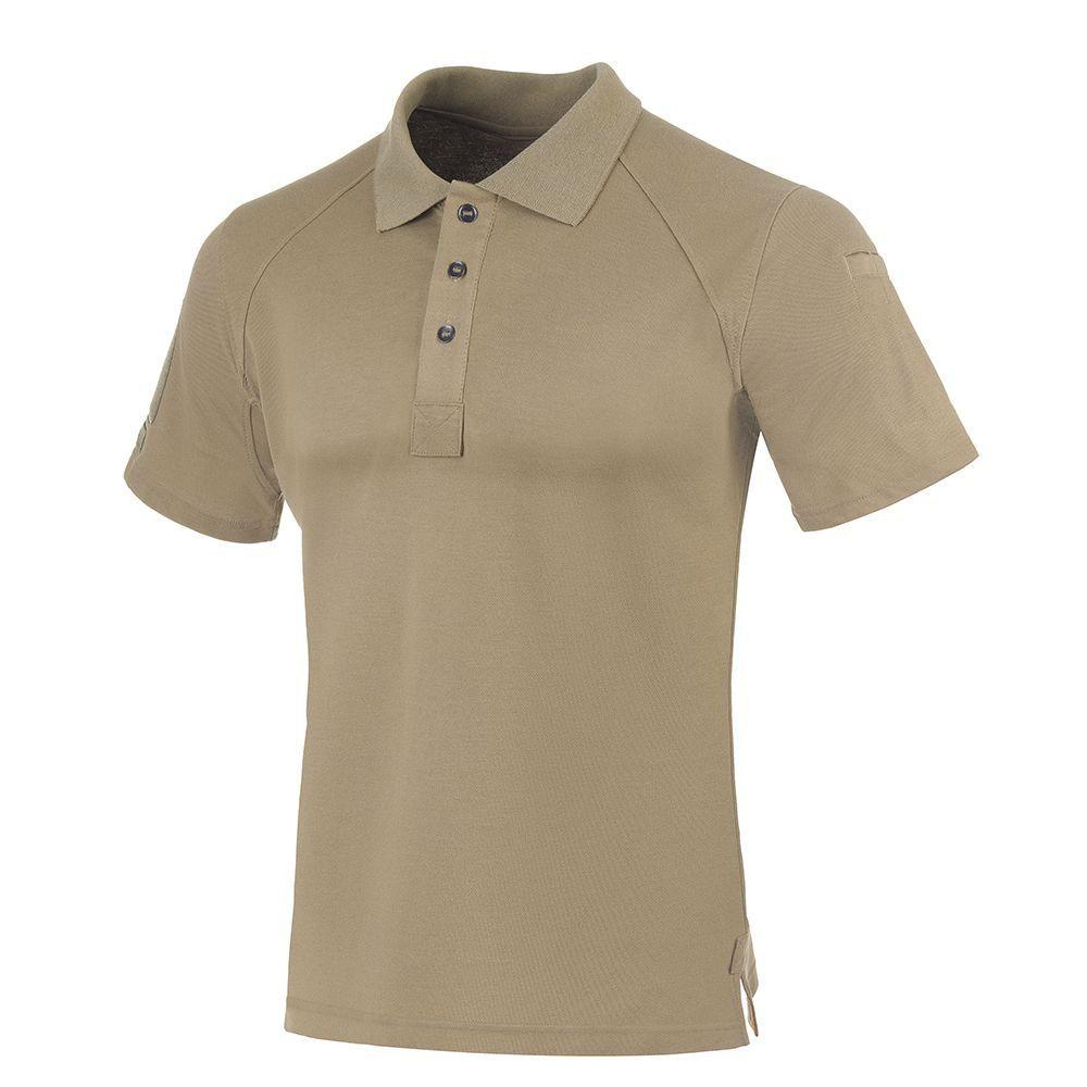 Camisa Polo Invictus Control Caqui Mojave