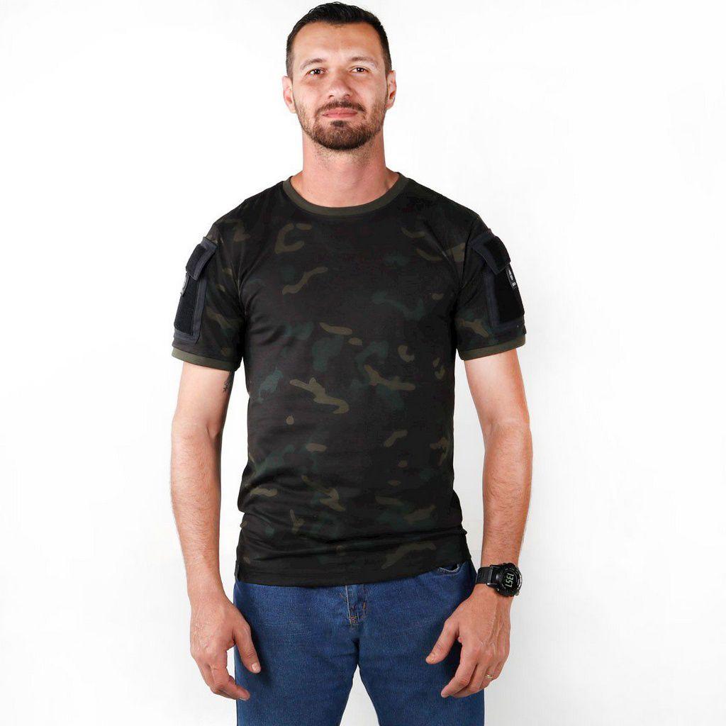 Camiseta Tática Bélica Ranger Multicam Black