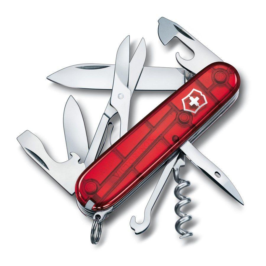 Canivete Victorinox Climber Vermelho Translúcido em blister 1.3703.TB1