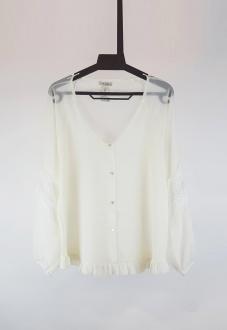 Blusa  branca de manga longa  Ref. 2612