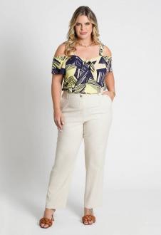 Blusa estampada plus size Ref. U70421