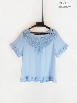 Blusa feminina azul serenity - Ref. 2639
