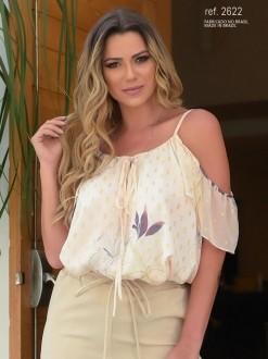 Blusa feminina creme- Ref. 2622