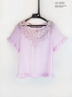 Blusa feminina rosa - Ref. 2639