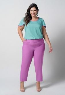 Blusa feminina verde plus size  Ref. U67021