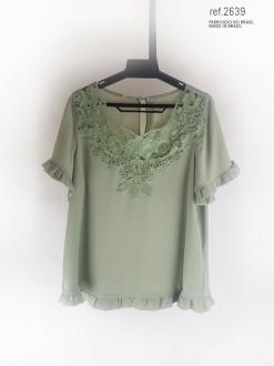 Blusa feminina verde (menta)- Ref. 2639